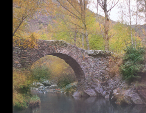 A Stone Bridge on The Road to Santiago