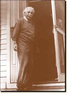 Einstein at his home in Princeton, New Jersey.